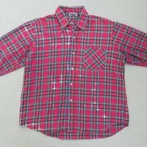 Vintage Red Plaid Flannel Shirt